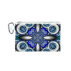 Fractal Cathedral Pattern Mosaic Canvas Cosmetic Bag (S)