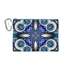 Fractal Cathedral Pattern Mosaic Canvas Cosmetic Bag (M)