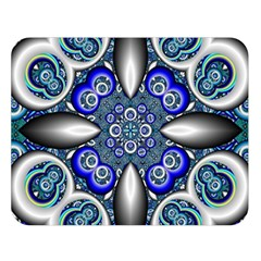 Fractal Cathedral Pattern Mosaic Double Sided Flano Blanket (large)
