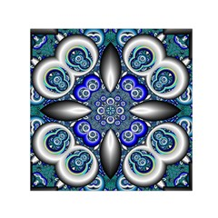 Fractal Cathedral Pattern Mosaic Small Satin Scarf (Square)