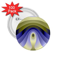 Fractal Eye Fantasy Digital 2.25  Buttons (100 pack)