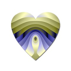Fractal Eye Fantasy Digital Heart Magnet