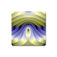 Fractal Eye Fantasy Digital Square Magnet