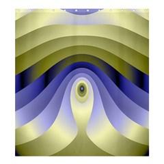 Fractal Eye Fantasy Digital Shower Curtain 66  x 72  (Large)