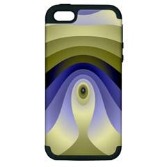 Fractal Eye Fantasy Digital Apple Iphone 5 Hardshell Case (pc+silicone)