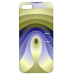 Fractal Eye Fantasy Digital Apple Iphone 5 Hardshell Case With Stand