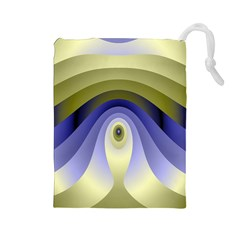 Fractal Eye Fantasy Digital Drawstring Pouches (Large)