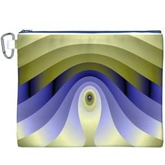Fractal Eye Fantasy Digital Canvas Cosmetic Bag (xxxl)
