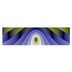Fractal Eye Fantasy Digital Satin Scarf (Oblong)