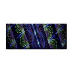 Fractal Blue Lines Colorful Cosmetic Storage Cases