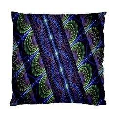 Fractal Blue Lines Colorful Standard Cushion Case (Two Sides)