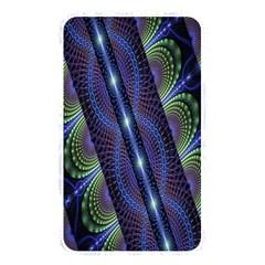 Fractal Blue Lines Colorful Memory Card Reader