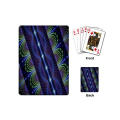 Fractal Blue Lines Colorful Playing Cards (Mini)