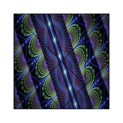 Fractal Blue Lines Colorful Acrylic Tangram Puzzle (6  X 6 )