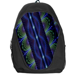 Fractal Blue Lines Colorful Backpack Bag