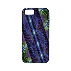 Fractal Blue Lines Colorful Apple Iphone 5 Classic Hardshell Case (pc+silicone)
