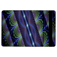 Fractal Blue Lines Colorful Ipad Air 2 Flip