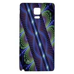 Fractal Blue Lines Colorful Galaxy Note 4 Back Case