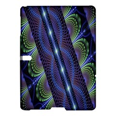 Fractal Blue Lines Colorful Samsung Galaxy Tab S (10 5 ) Hardshell Case