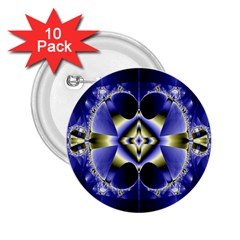 Fractal Fantasy Blue Beauty 2.25  Buttons (10 pack)