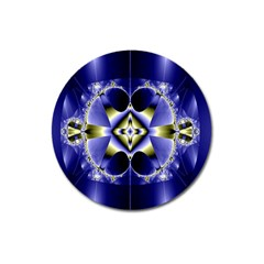 Fractal Fantasy Blue Beauty Magnet 3  (Round)