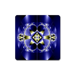 Fractal Fantasy Blue Beauty Square Magnet