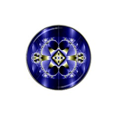 Fractal Fantasy Blue Beauty Hat Clip Ball Marker (4 pack)