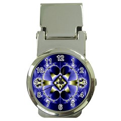 Fractal Fantasy Blue Beauty Money Clip Watches