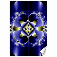 Fractal Fantasy Blue Beauty Canvas 24  x 36