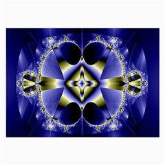 Fractal Fantasy Blue Beauty Large Glasses Cloth (2-Side)