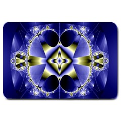Fractal Fantasy Blue Beauty Large Doormat