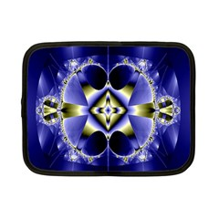 Fractal Fantasy Blue Beauty Netbook Case (small)