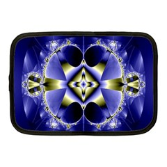 Fractal Fantasy Blue Beauty Netbook Case (Medium)