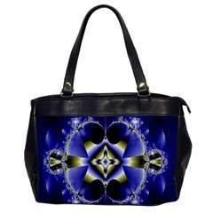 Fractal Fantasy Blue Beauty Office Handbags