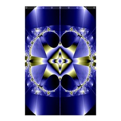 Fractal Fantasy Blue Beauty Shower Curtain 48  x 72  (Small)