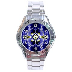 Fractal Fantasy Blue Beauty Stainless Steel Analogue Watch