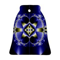 Fractal Fantasy Blue Beauty Ornament (bell)