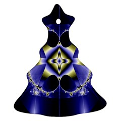 Fractal Fantasy Blue Beauty Christmas Tree Ornament (Two Sides)