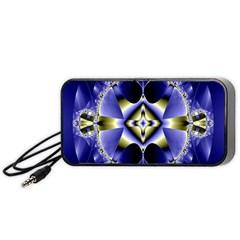 Fractal Fantasy Blue Beauty Portable Speaker (Black)