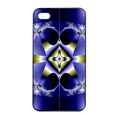 Fractal Fantasy Blue Beauty Apple Iphone 4/4s Seamless Case (black)