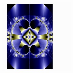 Fractal Fantasy Blue Beauty Small Garden Flag (Two Sides)
