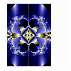 Fractal Fantasy Blue Beauty Large Garden Flag (Two Sides)