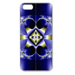 Fractal Fantasy Blue Beauty Apple Seamless iPhone 5 Case (Clear)