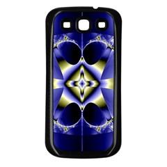 Fractal Fantasy Blue Beauty Samsung Galaxy S3 Back Case (black)