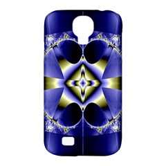 Fractal Fantasy Blue Beauty Samsung Galaxy S4 Classic Hardshell Case (pc+silicone)
