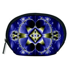 Fractal Fantasy Blue Beauty Accessory Pouches (Medium)