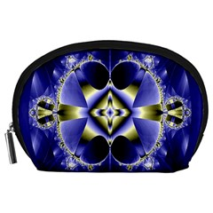 Fractal Fantasy Blue Beauty Accessory Pouches (large)