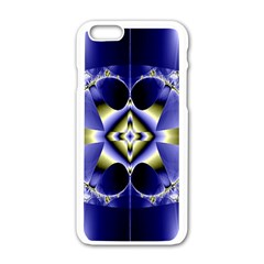Fractal Fantasy Blue Beauty Apple iPhone 6/6S White Enamel Case