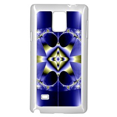 Fractal Fantasy Blue Beauty Samsung Galaxy Note 4 Case (white)