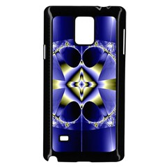 Fractal Fantasy Blue Beauty Samsung Galaxy Note 4 Case (Black)